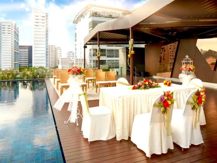 private poolside solemnisation event