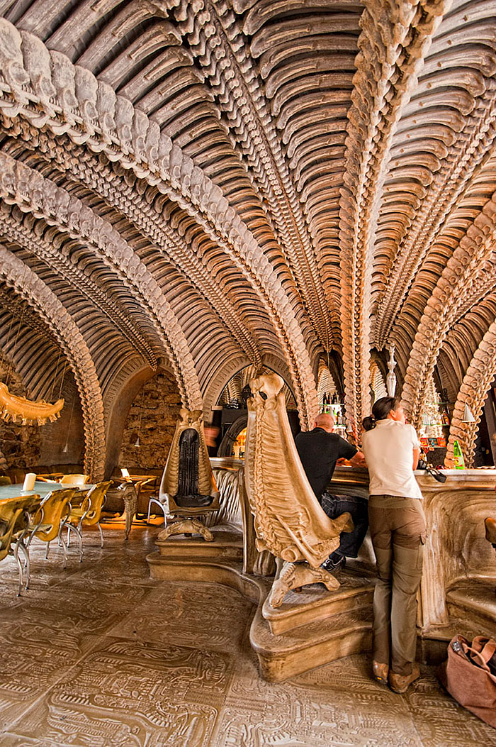 Most-amazing-spaces-venuerific-blog-HR-Giger-Museum-Bar-Switzerland