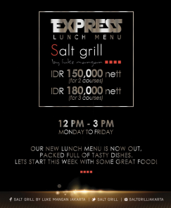 express lunch menu by salt and grill